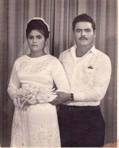 My mom and dad on their wedding day May 27, 1973.